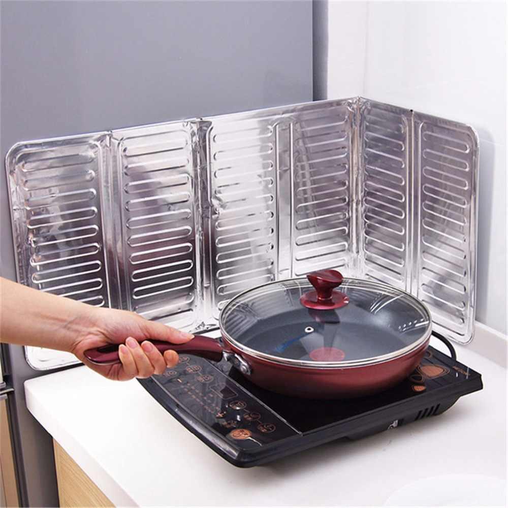Práctica lámina de aluminio estufa de Gas salpicadero de aceite Placa de pantalla cocina aislante Placa de deflector a prueba de salpicaduras herramientas especiales