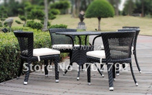 Hot sale SG-12007B Urban new style wicker cafe furniture