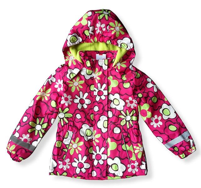 4c62d6577 Niños/niños/niñas parka floral y navy a prueba de viento/impermeable trench