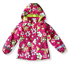 Girls ' outerwear kids/children/girls floral parka