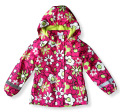 kids/children/girls  floral parka &  navy windproof/waterproof trench, spring/autumn jacket w fleece lining, size 98 to 146