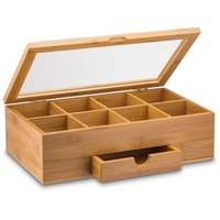 Wooden Tea Box 3 Compartments Storage Container Jewelry Accessories Wood Tea Gift Store Box Vintage Multifunctional Container