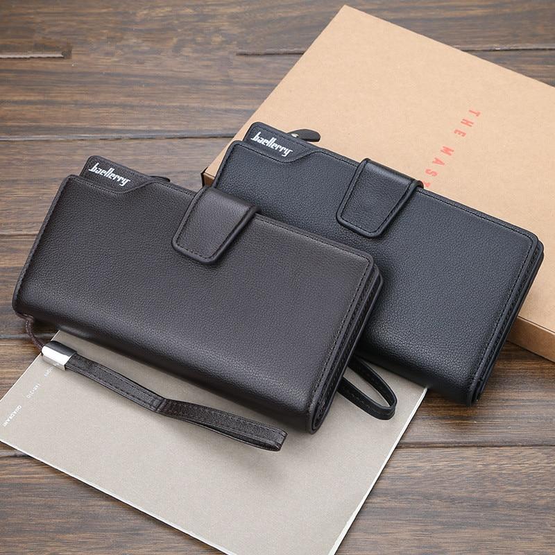 Men Wallets Long Fashion 2019 Luxury Brand Men Purse Wallet Male Clutch Leather Zipper Wallet Men Business Male Wallet Coin 048Q