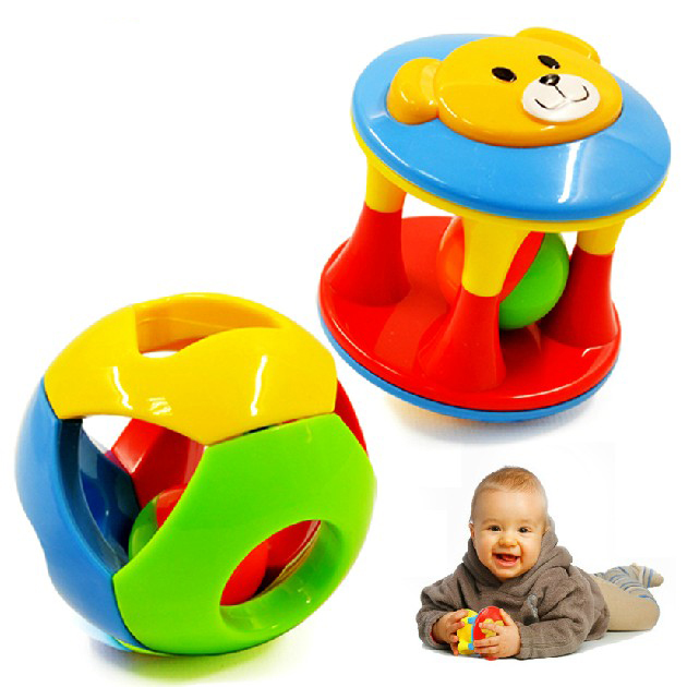 2pcs Baby Toy Fun Little Loud Jingle Ball,Ring jingle Develop Baby Intelligence,Training Grasping ability Toy For Baby 6M-1Year 2
