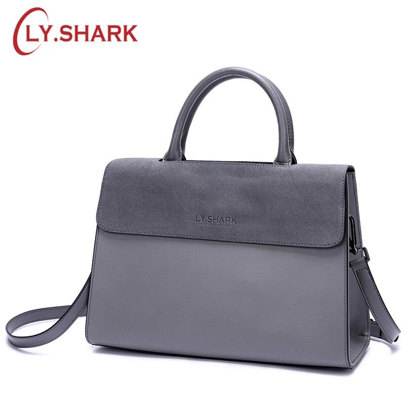 LY. Акула сумка женщины сумка женская натуральная кожа женские сумки большой crossbody сумки для женщин замшевые красные