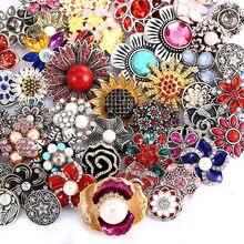 10 шт./лот оптовой 18 мм кнопки ювелирных смешанные стили кнопки подходит для браслета с защелкой браслеты ожерелья