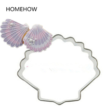 1PC/Lot Sea Living Creatures Shell Cookie Tools Cutting Mold 6.5*5cm Stainless Steel Kitchen Stencils Baking Pastry Tools