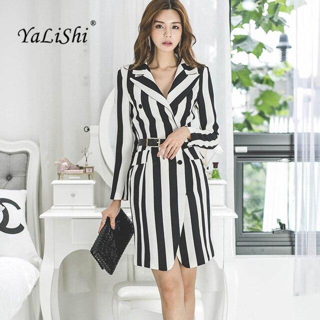 jurk zwart wit gestreept