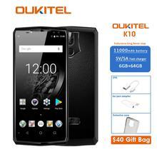 K10 6,0 «18:9 Дисплей 6g Ram 64g Rom 11000 mah 5 v/5a Quick Charge Mtk6763 отпечатков пальцев Nfc Face Id Quad камеры смартфона