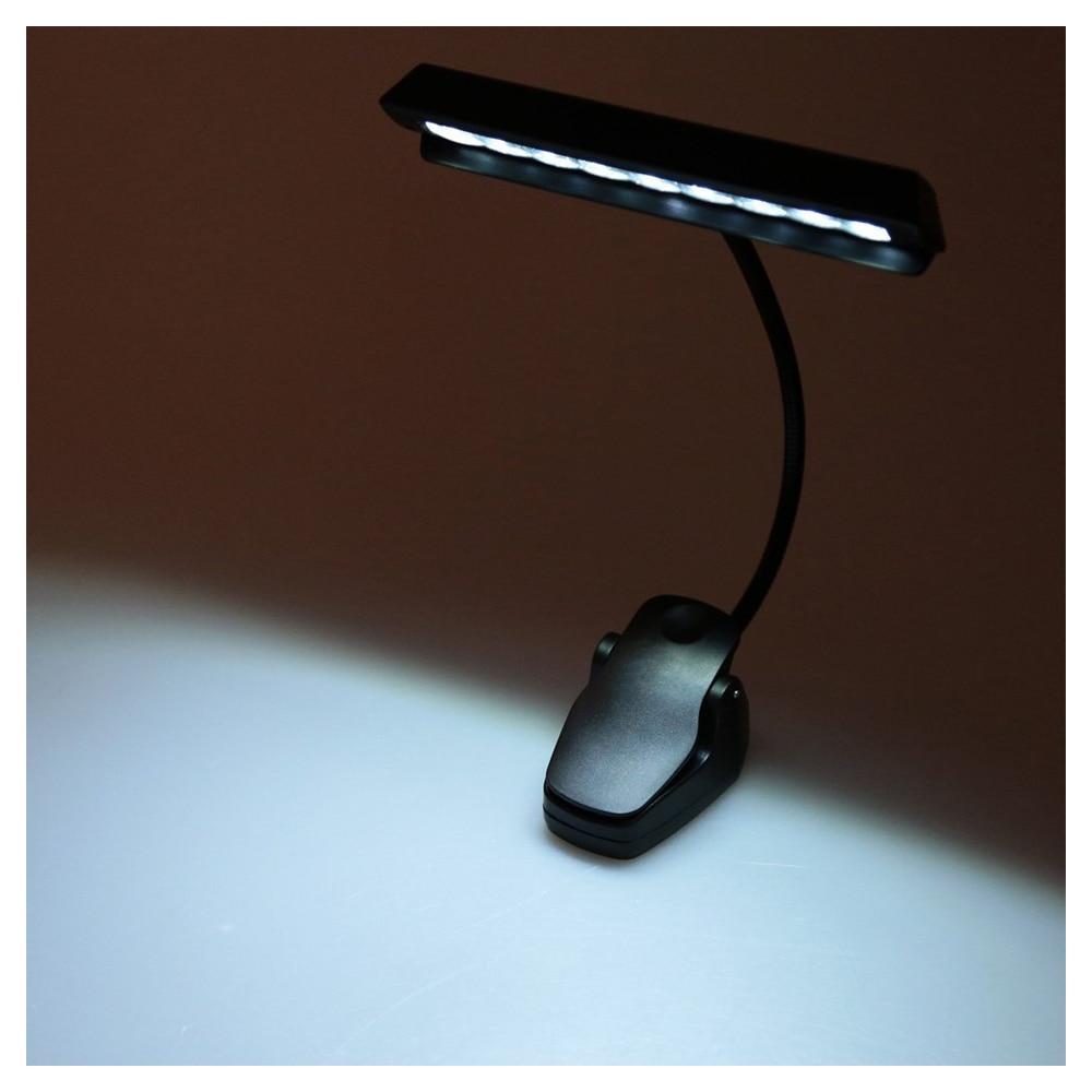 9 LEDs LED Reading Lamp Reading Light Desk Clip Lamp for Piano music score stand Black