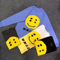 2019ss CPFM W.W.C.D Long Tshirts Streetwear Smiley Face Men Women Streetwear Harajuku T shirt CPFM W.W.C.D Tshirt 3D Top Tees