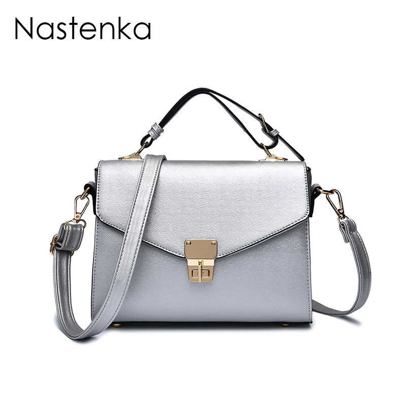 Nastenka Classic Flap Bag Shoulder Crossbody Bags Women Leather Small Messenger Bag Silver Luxury Handbags Women Bags Designer women messenger bags genuine leather single shoulder bags solid small flap women handbags mini classic box