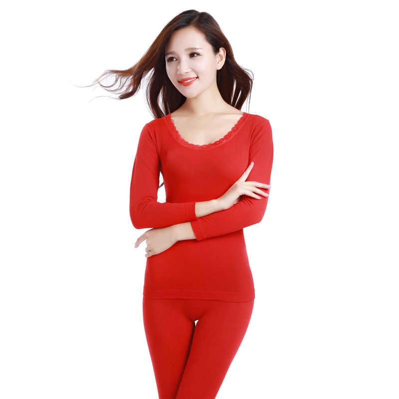 2019 Dantel termal iç çamaşır Seksi Bayanlar Giysileri Kış Dikişsiz Antibakteriyel Sıcak Intimates Baskı Paçalı don Kadınlar Şekilli Setleri