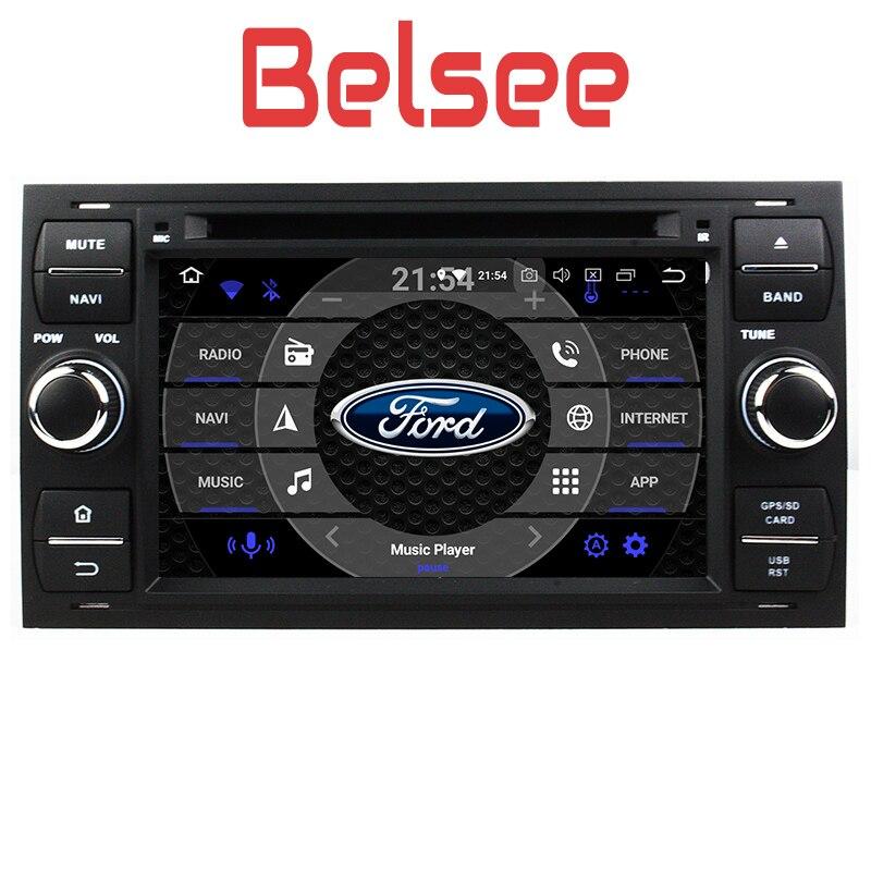 Belsee Android 8.0 Unité De Tête de Voiture Navi Radio Stéréo pour Ford Focus Connecter S-MAX C-MAX Fiesta Galaxy Mondeo Fusion Kuga transit