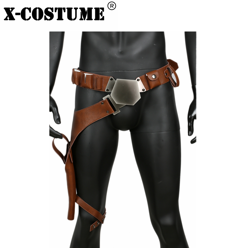 Star Wars Han Solo Belts Movie Cosplay Costume Props 2018 Halloween Party Synthetic PU Leather Waistband Belt With Gun Holster