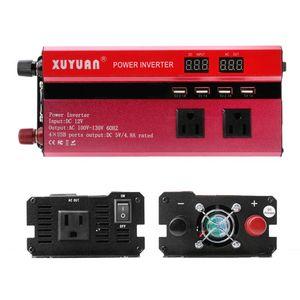Image 4 - 5000W שמש רכב כוח מהפך LED DC12V כדי AC110/220V סינוס גל ממיר 4 ממשקי USB