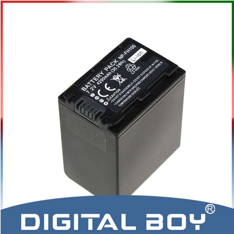 Digital Boy Hot sales! 1 pcs NP-FH100 NP FH100 LI-ION 4200mAh rechargeable Battery For Sony DCR-SX40 SX40R SX41 HDR-CX105 z1