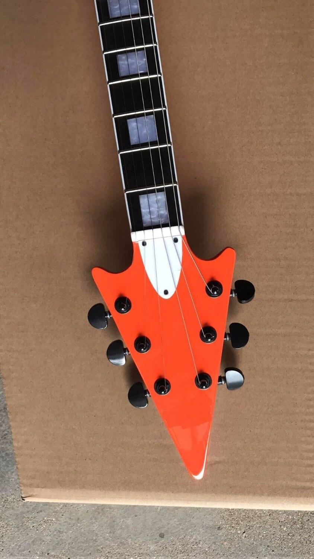 New Arrival Custom Flying V electric guitar top quality In orange 170606