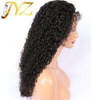 JYZ 180 density 360 Lace Frontal Wigs Pre Plucked With Baby Hair Full Brazilian Curly Human Hair Lace Front Wig Remy Hair