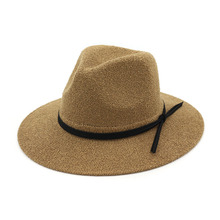 Spring Summer Women Sun Visor Hat Ladies Straw Hats Linen Cowboy New Fashion Female Fedoras Cap Bow-knot  Beach
