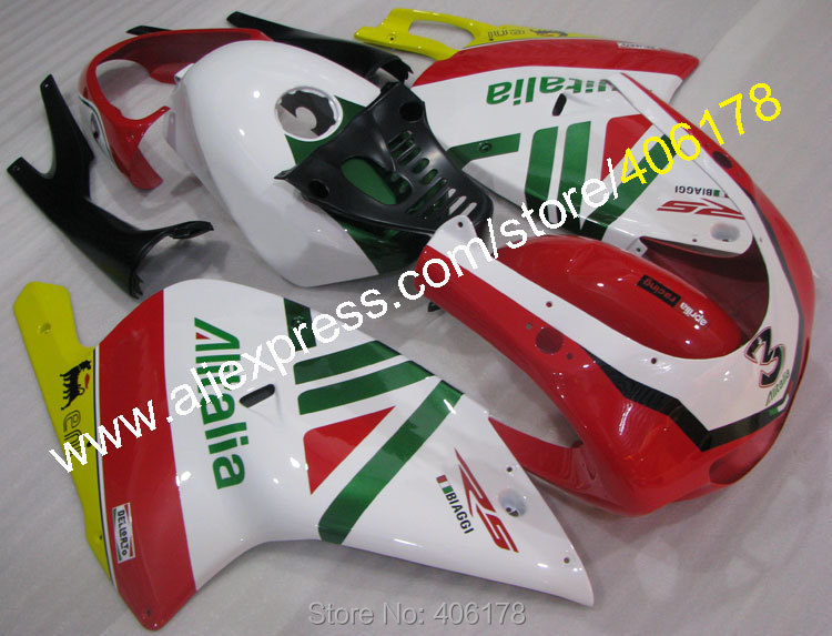 Hot Sales,Aftermaket RS125 Fairings Kit For Aprilia RS 125 2001-2005 RS 125 01 02 03 04 05 RS125 ABS Bodyworks Fairing Kit