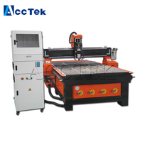 Jinan AccTek 6090 1212 1325 cnc router spindle motor for wood milling 4 axis cnc wood lathe machine