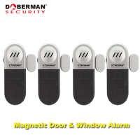 Doberman di Sicurezza Magnetico per Porte E Finestre di Allarme di Sicurezza di Protezione di Sicurezza Domestica di Allarme del Rivelatore del Sensore di 100dB Entry Allarme Difesa