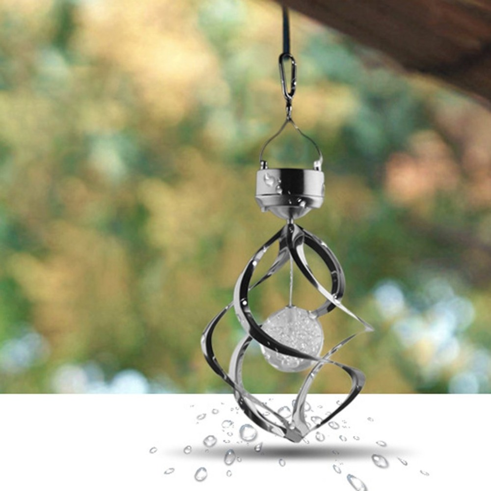 Solar LED Lamp Wind Chime Light A109 Outdoor LED Solar Lamp Durable Color-Changing Wind Chime Light Hanging Spiral Garden LightSolar LED Lamp Wind Chime Light A109 Outdoor LED Solar Lamp Durable Color-Changing Wind Chime Light Hanging Spiral Garden Light