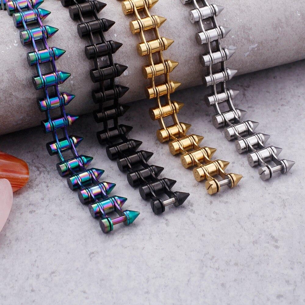 KALEN Edelstahl Kugel Armband Für Männer Gold/Schwarz/Silber/Bunte 20mm Breite Verknüpfung Kette Armband mode Schmuck