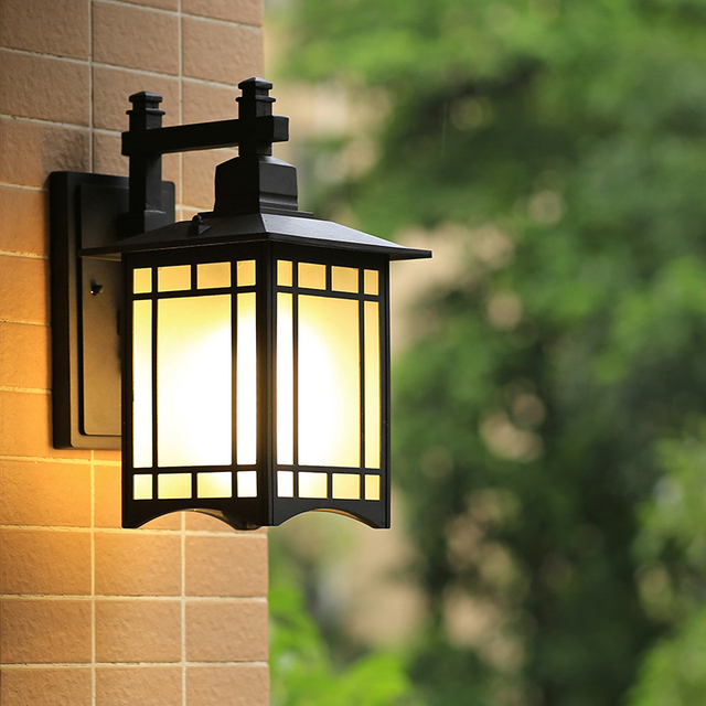 Led Outdoor Wall Lamp Garage Light Outdoor Wall Sconces Waterproof Garden  Balcony Light Exterior Lamp Black