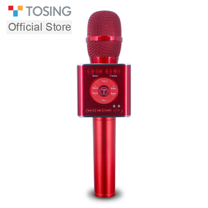 Image 1 - TOSING 04 portable Bluetooth sans fil karaoké Microphone lecteur de téléphone micro haut parleur enregistrer de la musique KTV Microphone