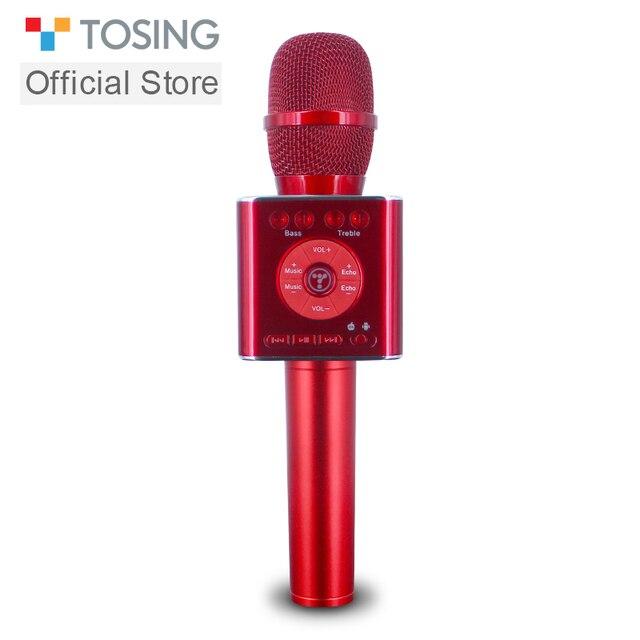 Tosing 04 ハンドヘルド bluetooth ワイヤレスカラオケマイク電話プレーヤーマイクスピーカー記録音楽 ktv マイク
