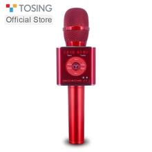 Tosing 04 handheld bluetooth sem fio karaoke microfone telefone player mic alto falante gravação música ktv microfone