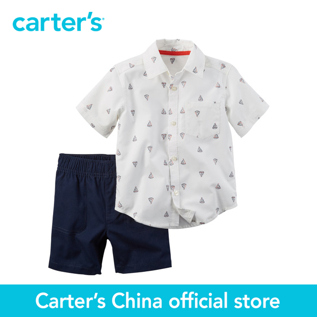 0bf5d88e0 Carter 2 unids bebé niños camiseta de manga corta camisa cortocircuitos  229G124, vendido por carter