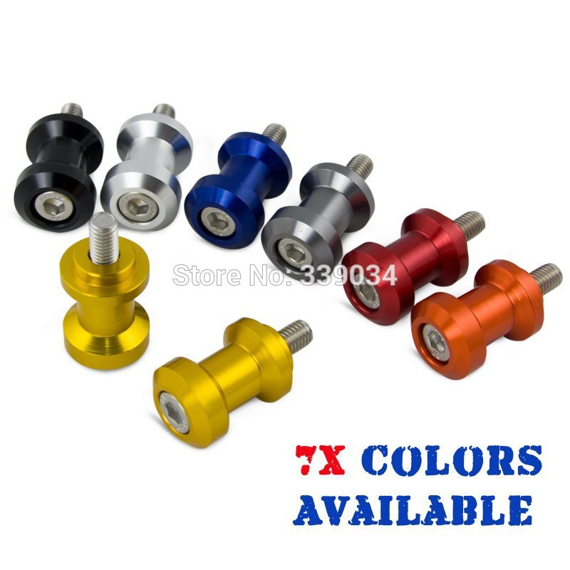 Motorcycle 6mm CNC Swingarm Spools Sliders For Yamaha R1 R6 R7 FZ1 FZ6 MT01 MT03 Aprilia RSV 1000 Triumph Daytona 675 2006-2008 6mm swing arm spools sliders for yamaha r7 yzf r1 r6 r6s fz1 fz6 fz6r 8 colors