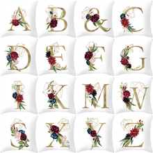 English Letters printed decorative pillowcase 45*45cm square Home Textile Fashion Nordic Style