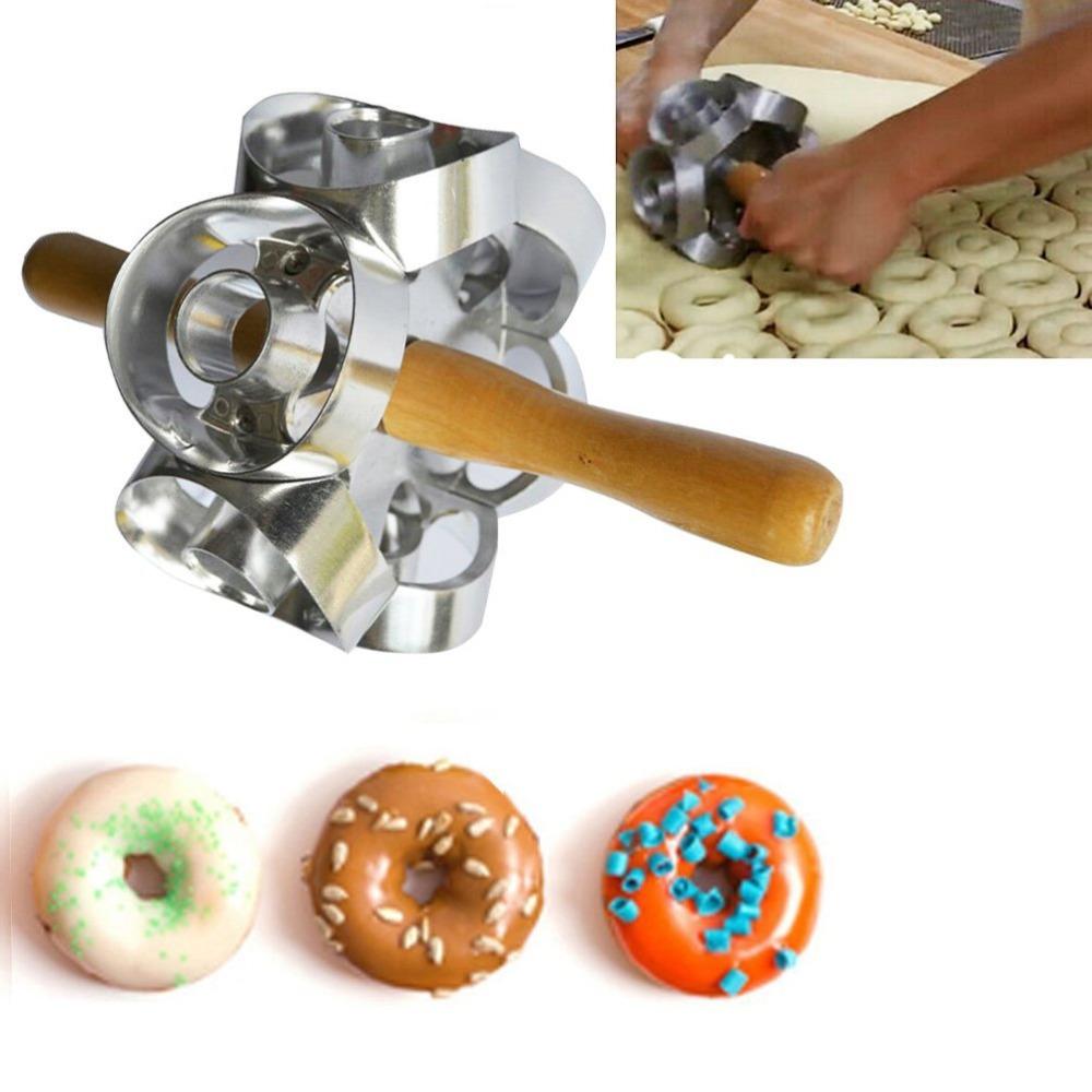 Donut Maker Cutter Fondant Cake Bread Desserts Bakery Mould Home Baking FM