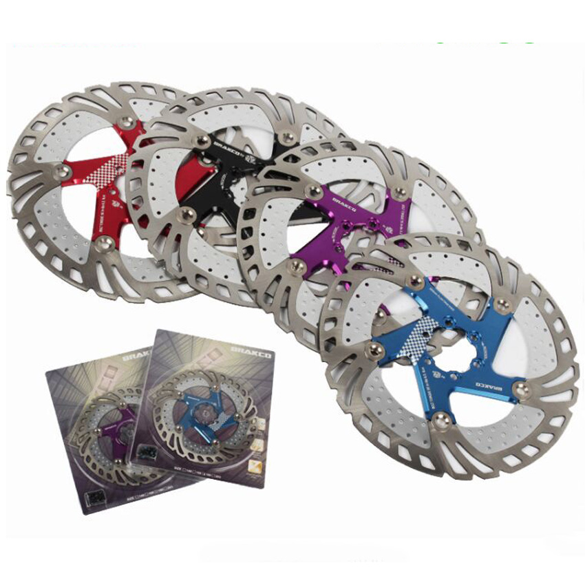 1 pcs Brakco Mountain Bike Brake Disc Rotor MTB Bike Floating disk DR-11FA 160/180/203mm cable parts hot selling fouriers 140mm 160mm 180mm 203mm mtb bike brake disc rotors hydraulic mechnical mountain bicycle disc brake rotor