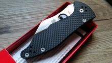 2016 High quality Custom Yojimbo C85 Knife Carbon Fiber Handle D2 Blade C85GP2 folding Fixable knife camping hunting knives tool