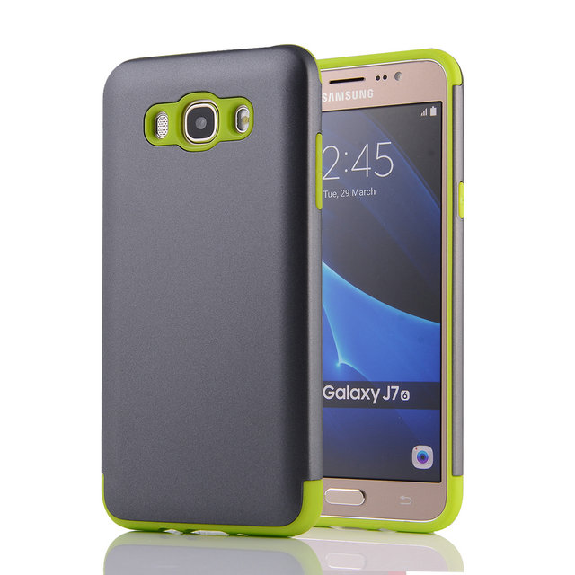 huge discount 81a33 f8bd6 US $3.9 |Shockproof Case Back Armor For Samsung Galaxy J7 J7 2016 silicone  Case TPU PC Hybrid Shield Phone Cover for Samsung J7 2016 case-in Fitted ...