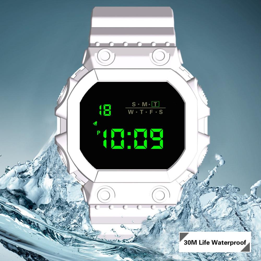 HONHX Men's Watch Luxury Outdoor Boys Men Analog Digital Military Army Sport LED Life Waterproof Wristwatch Digital Clock Men618