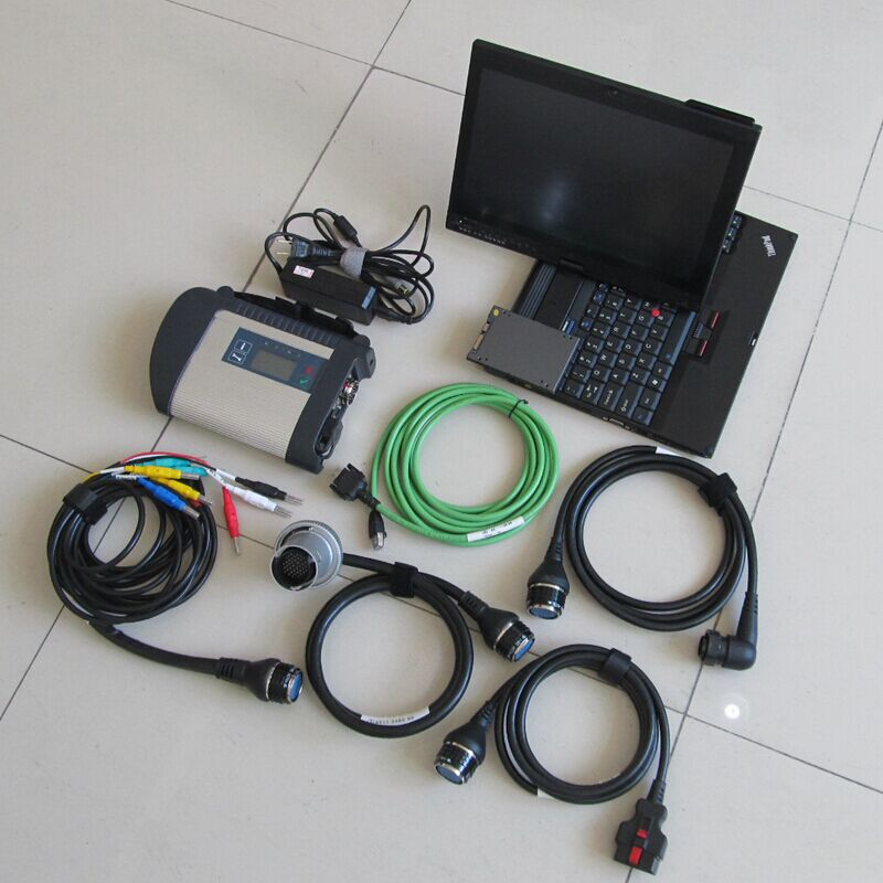 Le plus récent outil de diagnostic mb star c4 sd connect avec le plus récent logiciel V2019.07 ssd avec x201t ordinateur portable à écran tactile