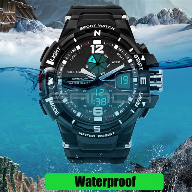 2018 Sale Waterproof Men Sport Watch Led Electronic S Shock Watches Military Rubber Woman Casual Relogio Feminino Wristwatches 3