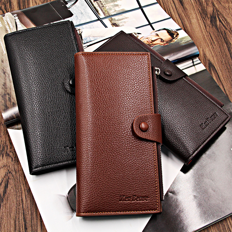 New Male Long Wallet Many Departments Men Wallets Men's Clutch Purses Card Holder Cell Phone Pocket Carteras