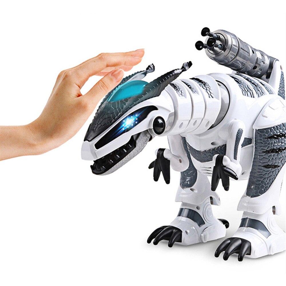 Dinozaury Walking robot dinozaur jurajski świat Brinquedos RC elektryczny dinozaur taneczne piosenki walki pilot zdalnego sterowania elektryczny Robot zwierząt domowych w Roboty i zwierzęta RC od Zabawki i hobby na  Grupa 2