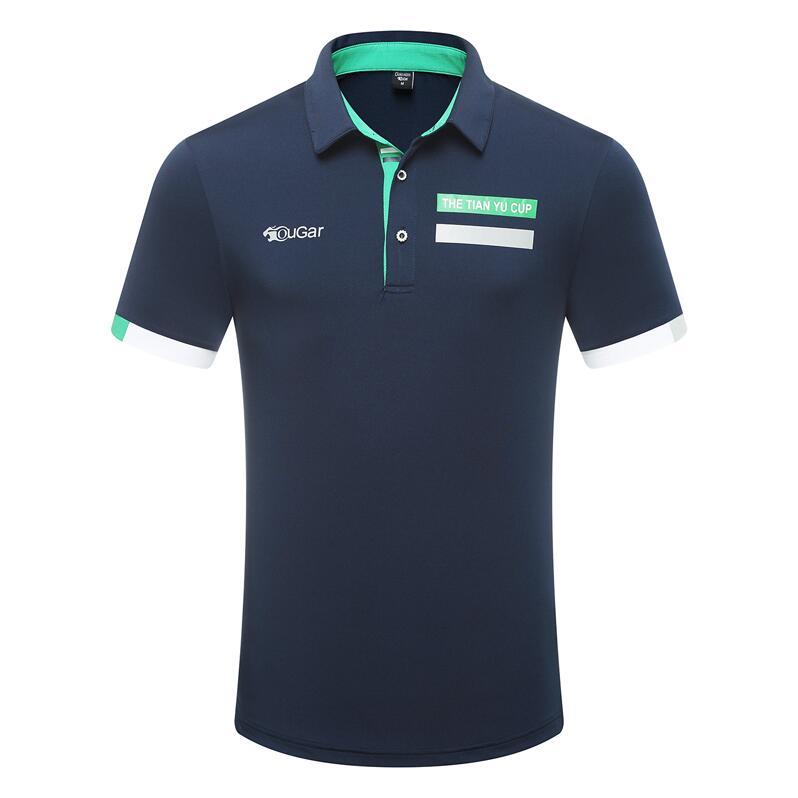 Vestuário de Golfe T-shirt do Verão dos Homens Respirável de Secagem Roupas de Golfe Verão Novo Botão Collar-manga Curta Rápida Sportswear Topos 2020