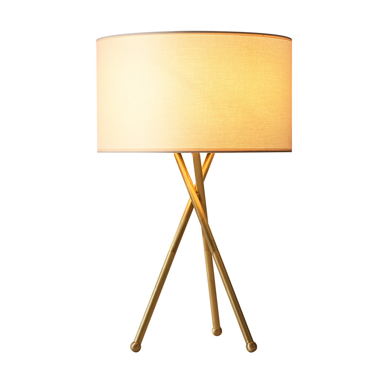 New Classical Table Lamps Modern Gold Luxury Metal Body Cloth Lampshade For Foyer Bedroom Study Led E27 Creative Reading Light Led Lamps