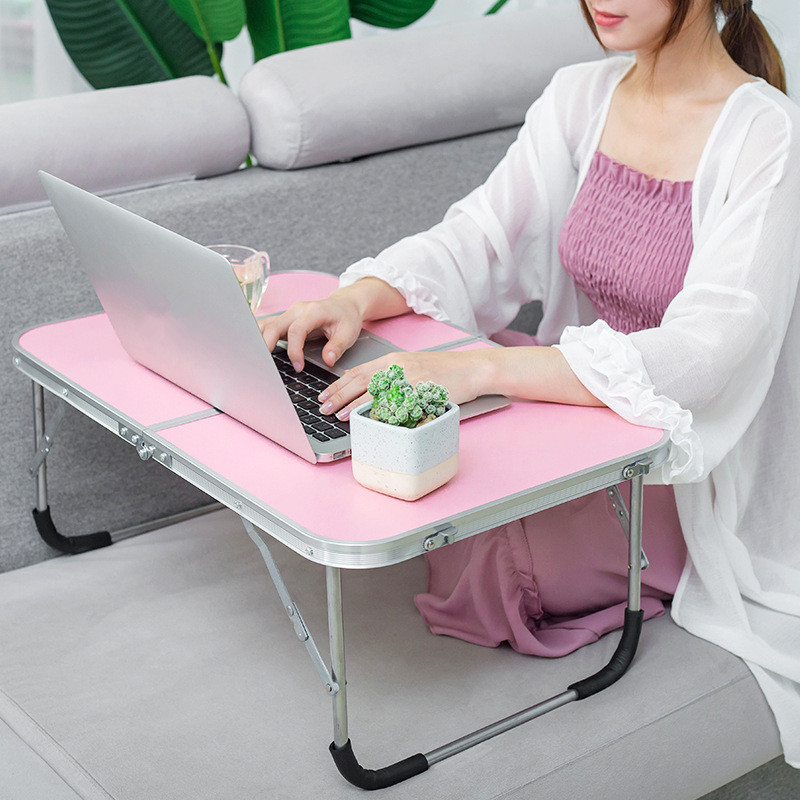 Portable Foldable Folding Table For Laptop Desk Computer Notebook Stand Tray For Sofa Bed Workstation Home Office Furniture