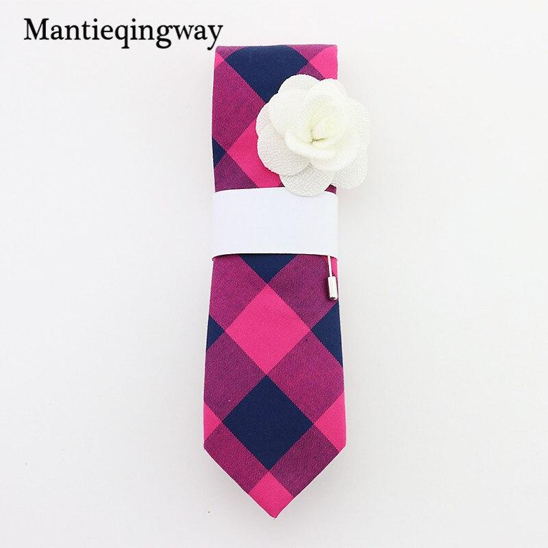 Mantieqingway 6 cm moda Corbatas Slim gravatas empate flaco negro ...