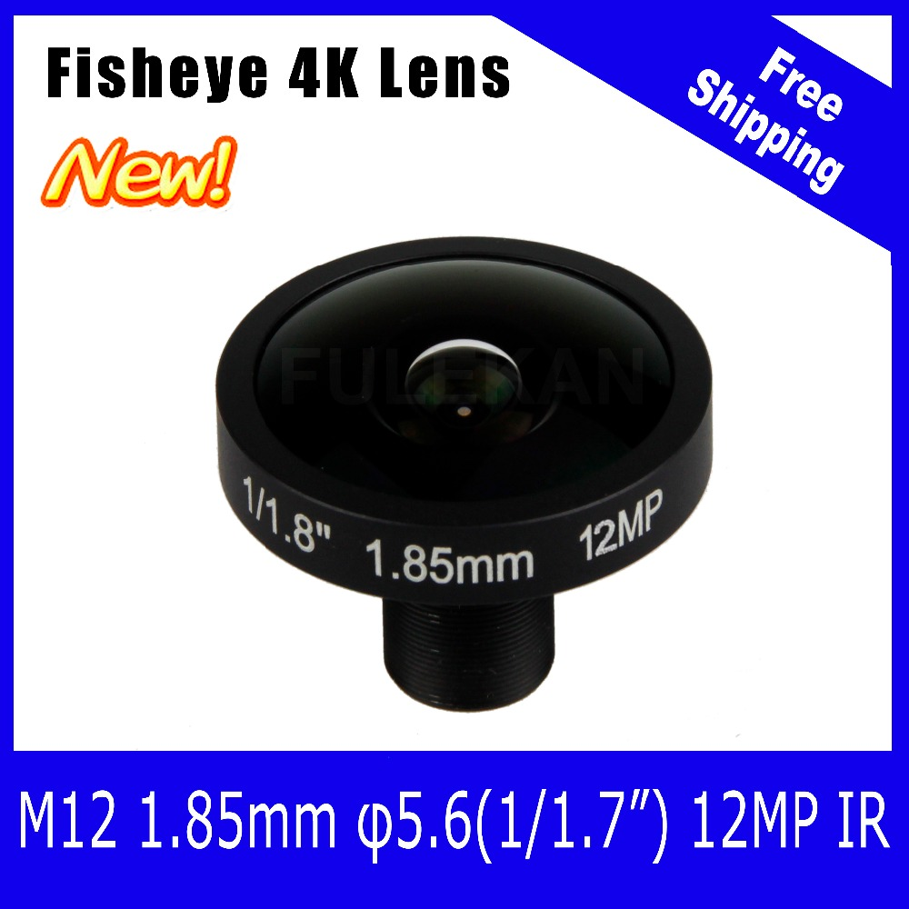 ФОТО 4K Lens 12Megapixel Fisheye M12 Mount Lens 1.85mm 1/1.7 Inch 185 Degree For IMX226 Sensor Ultra 4K Camera Free Shipping